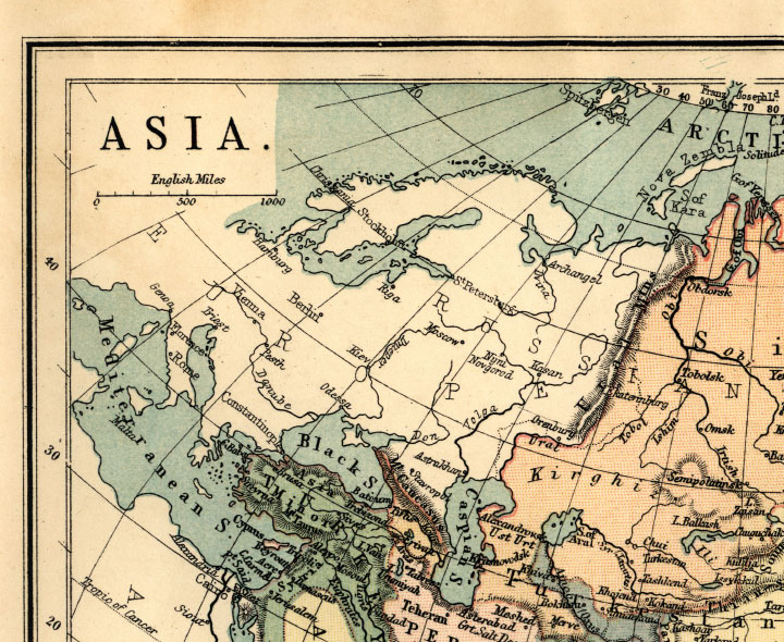 northwest asia map