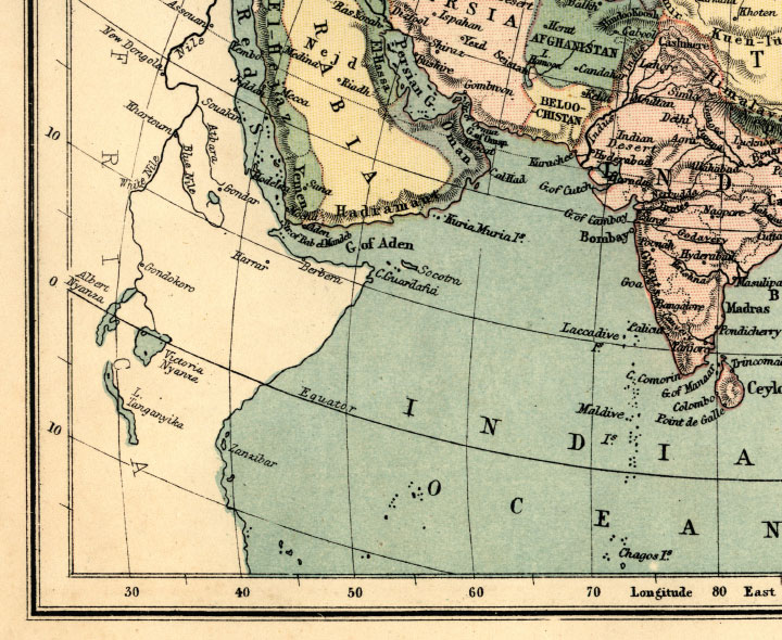 southwest asia map